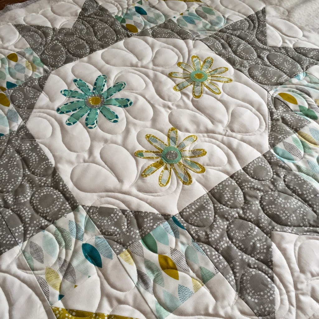 Sew Sweet Simplicity Table Topper - Fun Blocks, with a mixture of sewing techniques!