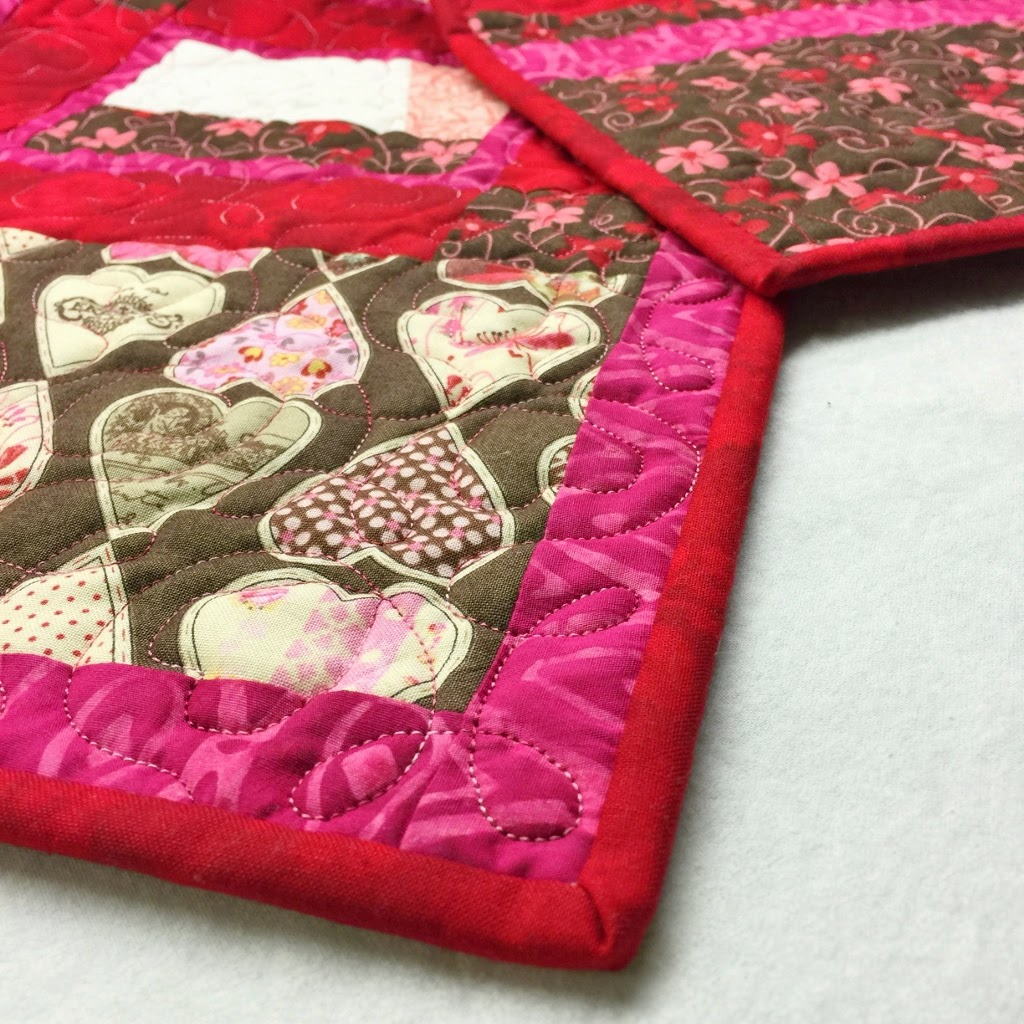 Valentines Table Topper and Runner - Love.....