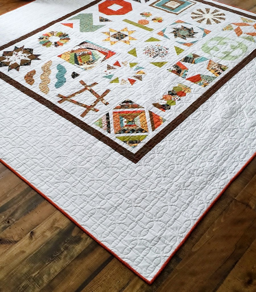 Craftsy BOM 2012 - My first sampler....one of the free classes available from Craftsy!!