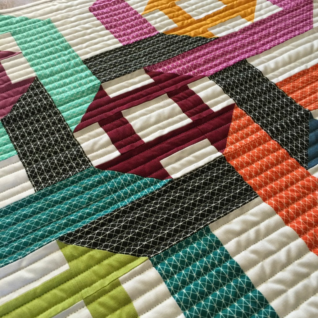 Twists & Churns - Lots of colour and fabric options can be used for this fun original pattern!