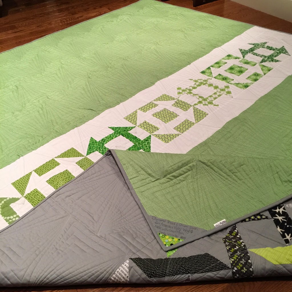 Amanda & Ryley's - Wedding quilt, that turning into a Christmas present!