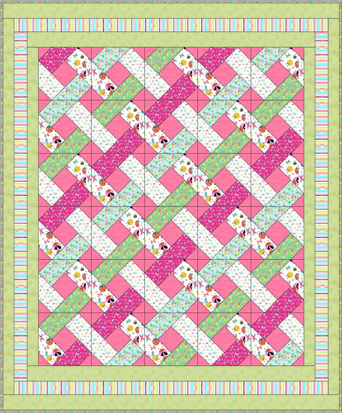 Shown in Flutterby from P&B Textiles