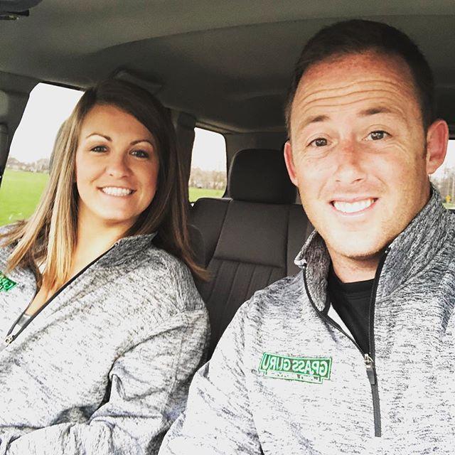 Twinning and representing @grassgurulawns merchandise #grassguru #lawncare #lawns #lawnservice #business #support #merchandise #marketing #wife #husband #happiness