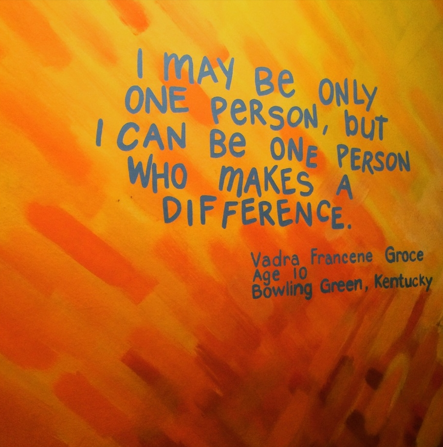 One Person quote | Kirsten Akens April 2015