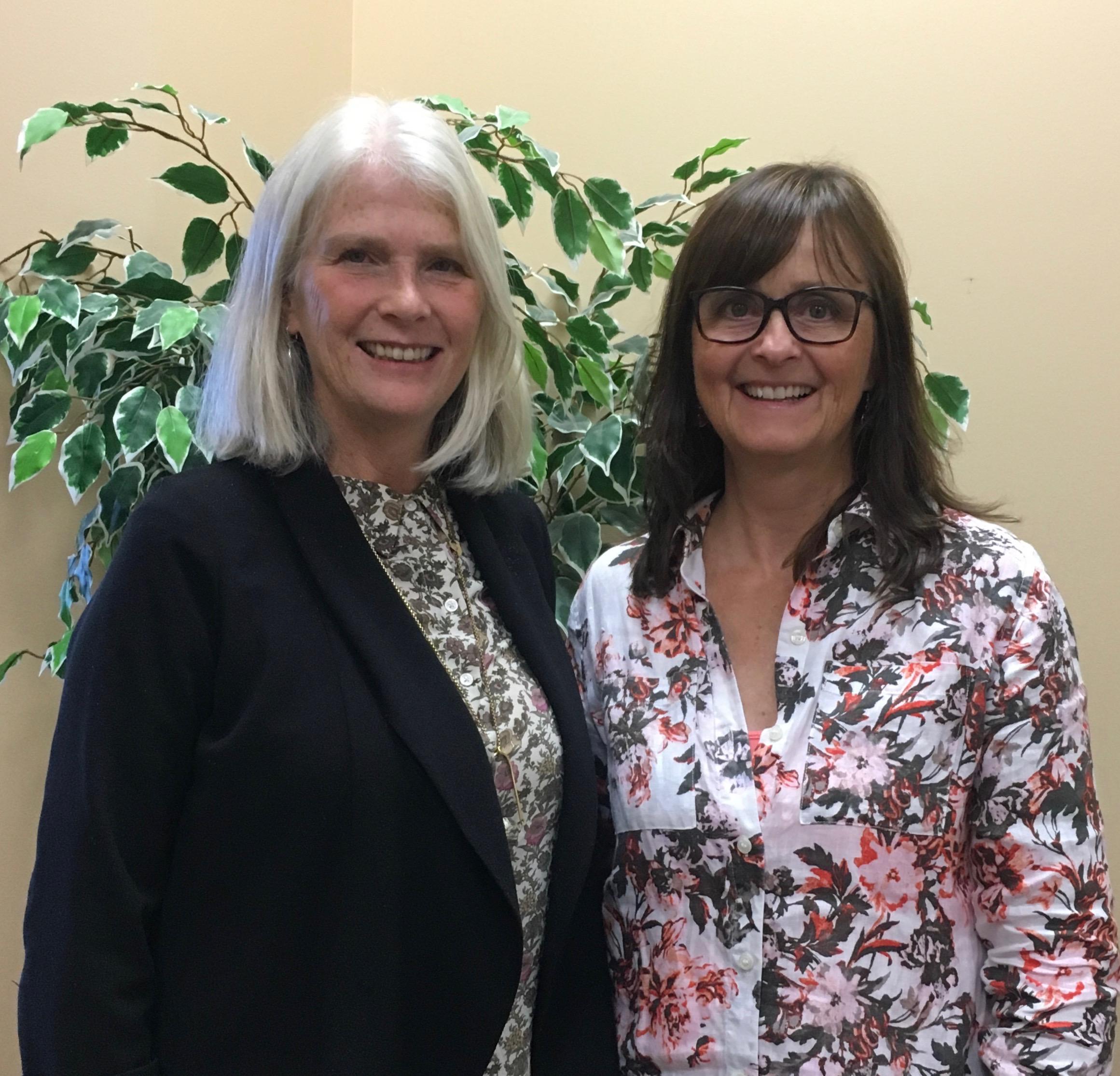 Glenda Britton (left) and Michele Welch (right).