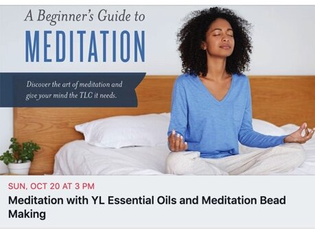 In this workshop I'm excited to help break through myths about meditation being hard, weird or time consuming. Meditation can be accessible to everyone. I hope you can join us for this afternoon of TLC with meditation, crystal meditation beads and wonderful Young Living essential oils!❤️   Click on the picture to head over to Facebook learn more.