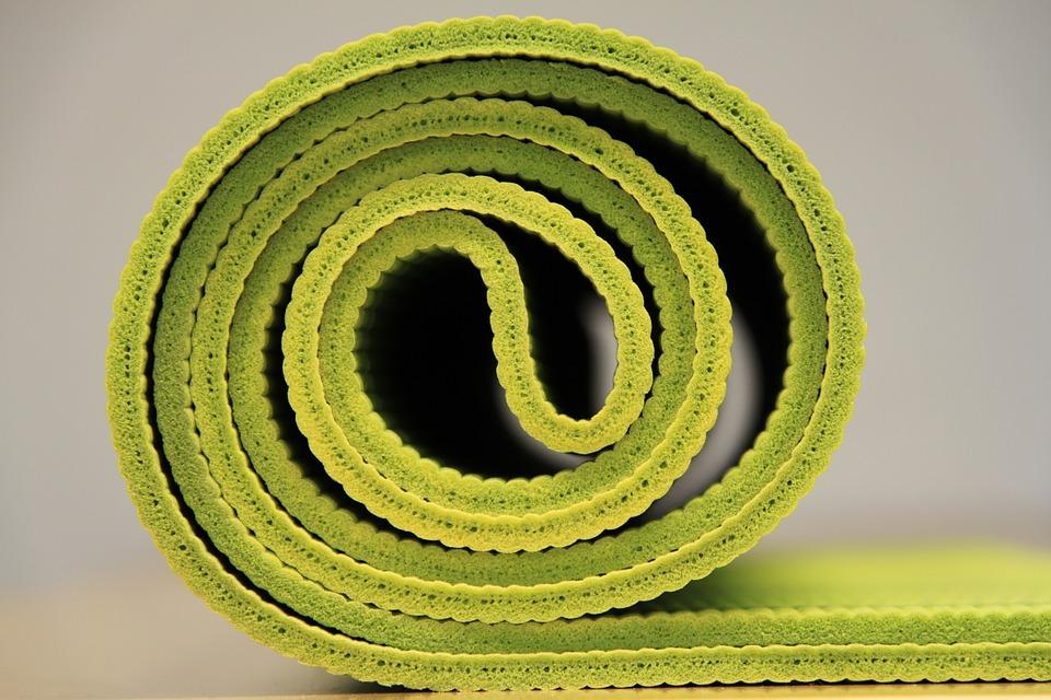 yoga mat green rolled.jpg