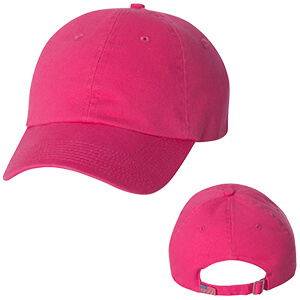 pink 6 panel hat