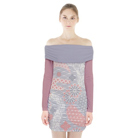 Long Sleeve Off the Shoulder Dress - Made from 90% Polyester, 10% Spandex, soft, stretchy, lightweight and quick drying fabric makes this dress extra comfortable.