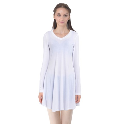 Long Sleeve Flare Dress - Machine washable long sleeve dress is made with 90% Polyester, 10% Spandex. Can be used to create a layering look or worn on its own.