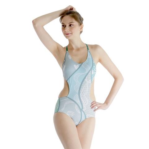 cutout swimsuit front