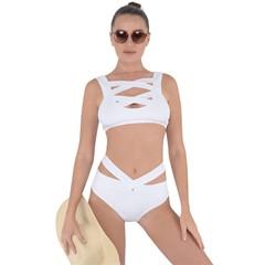 bandage bikini front