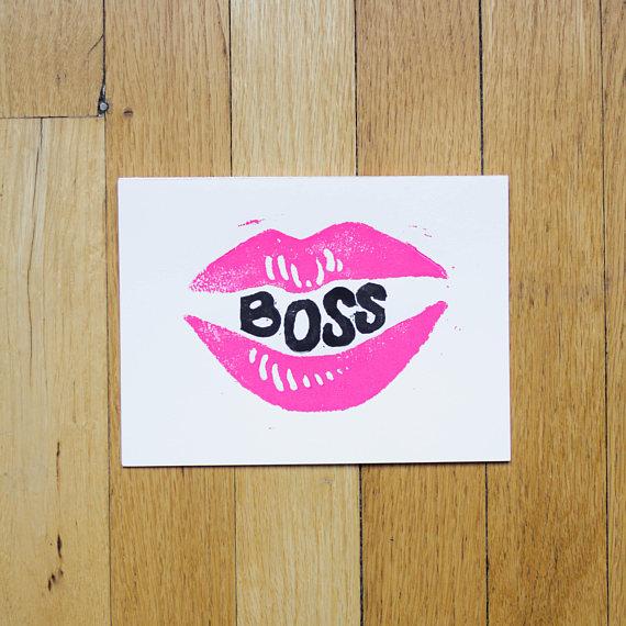 Boss Lady Folded Card