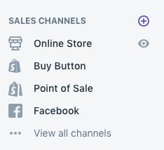 shopify sales channels