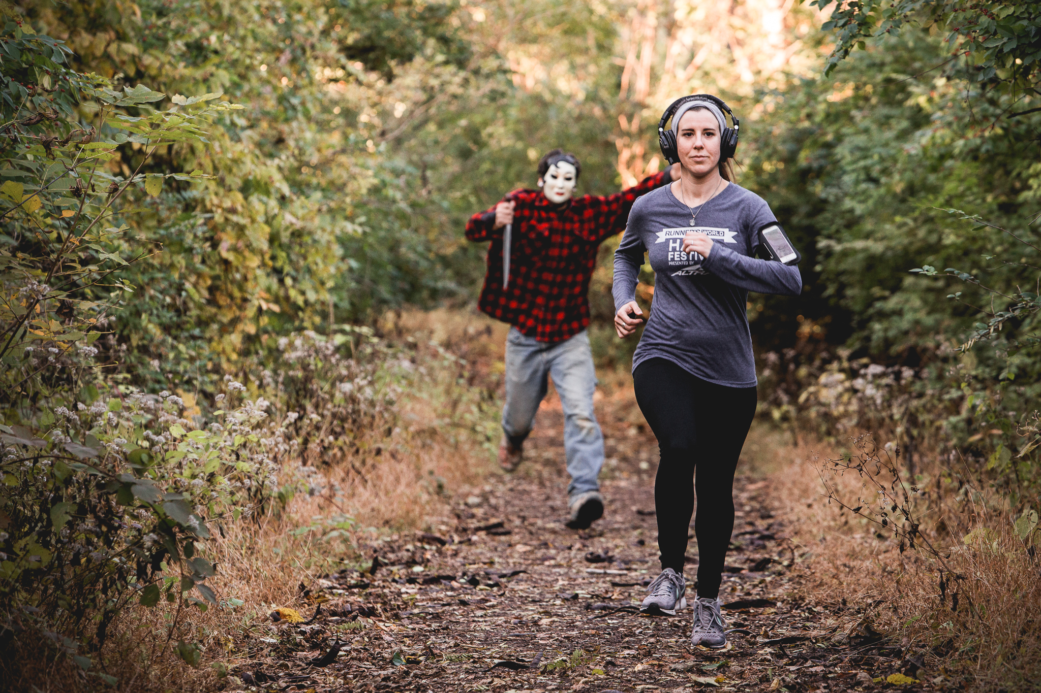 Have you ever ran in the woods with your headphones on? Do you ever look behind you?
