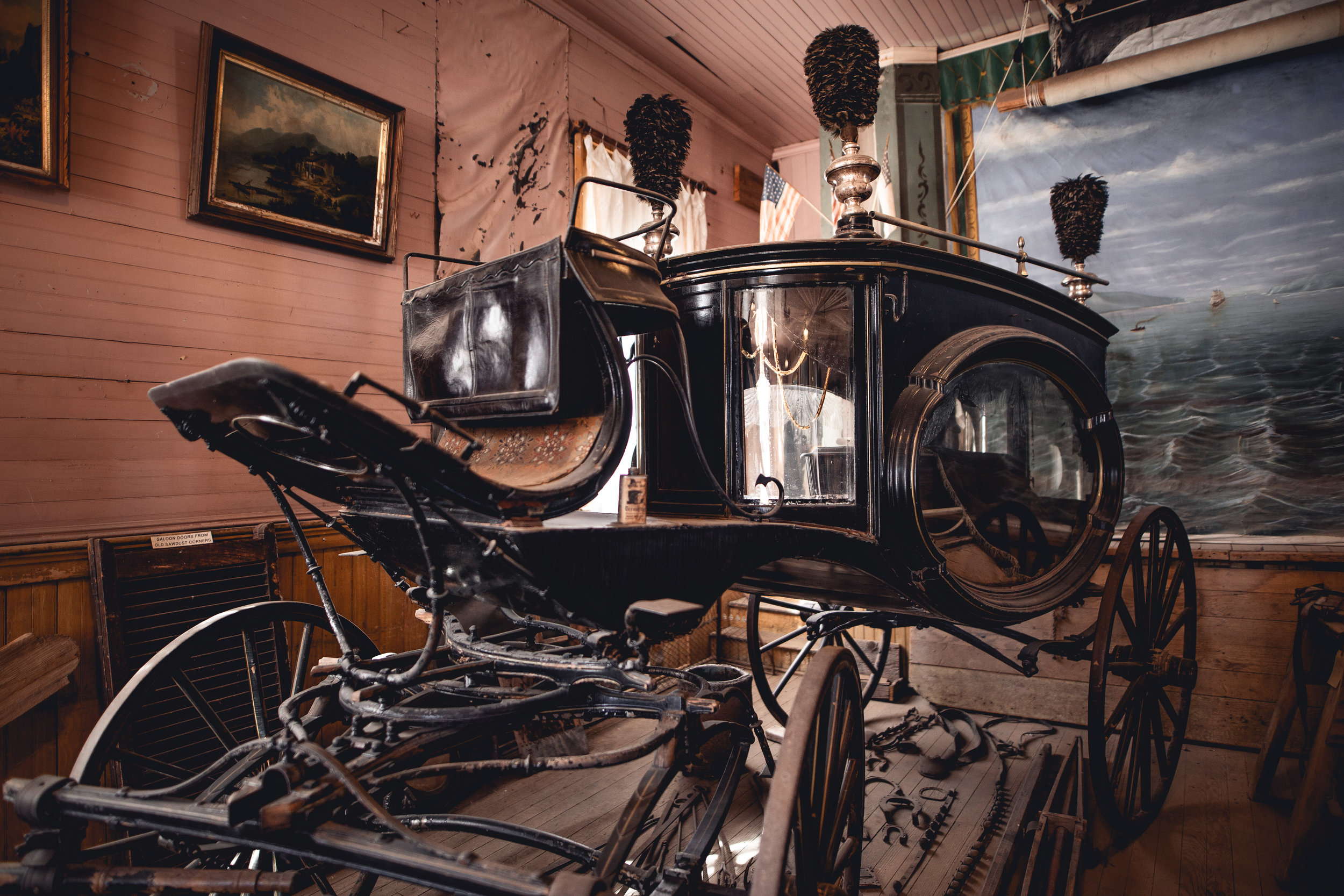 Fancy carriage in the gift shop
