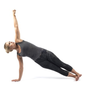 3. Side Plank (Left Hand)