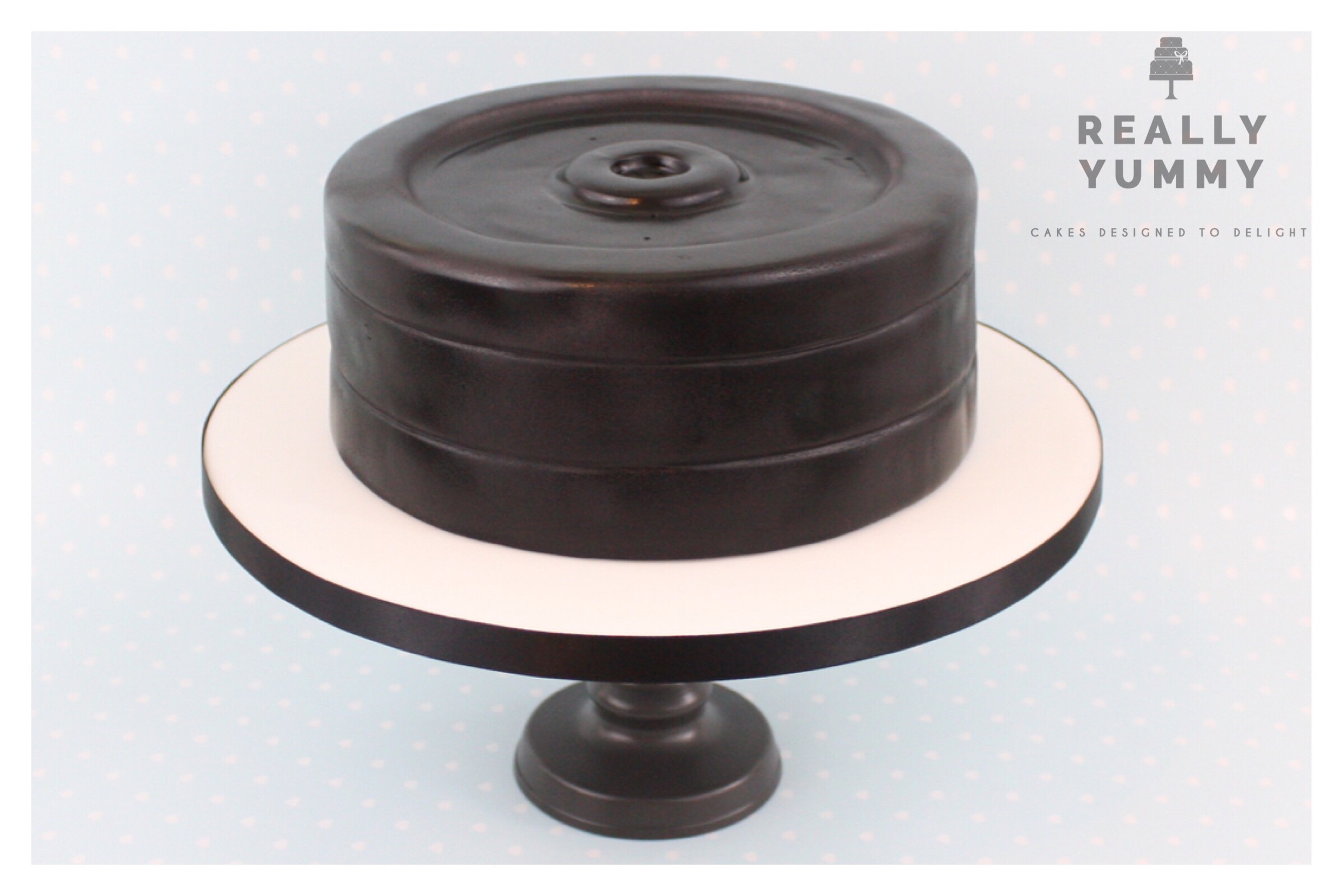 Stack of weights cake