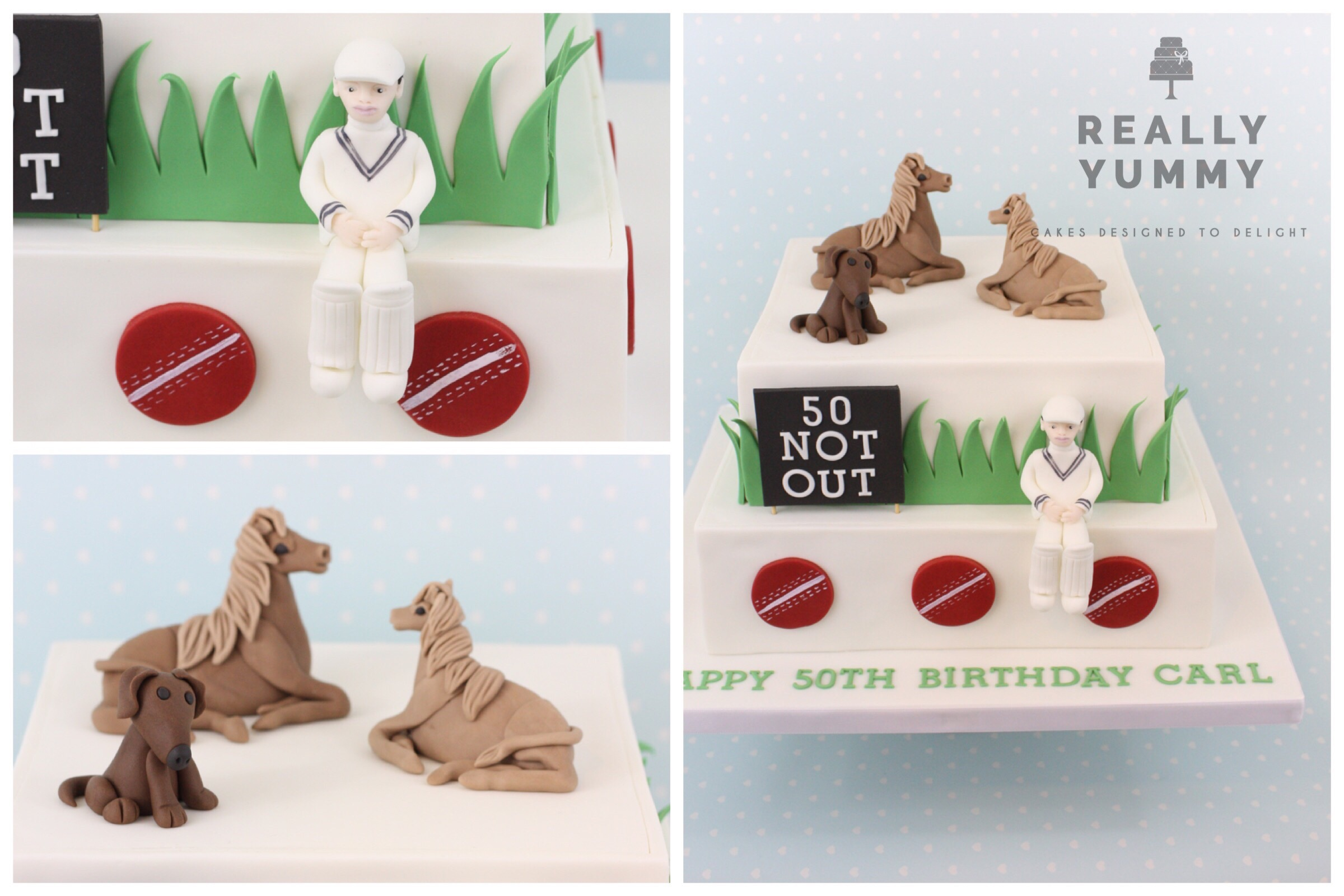 Horses, dogs and cricket cake