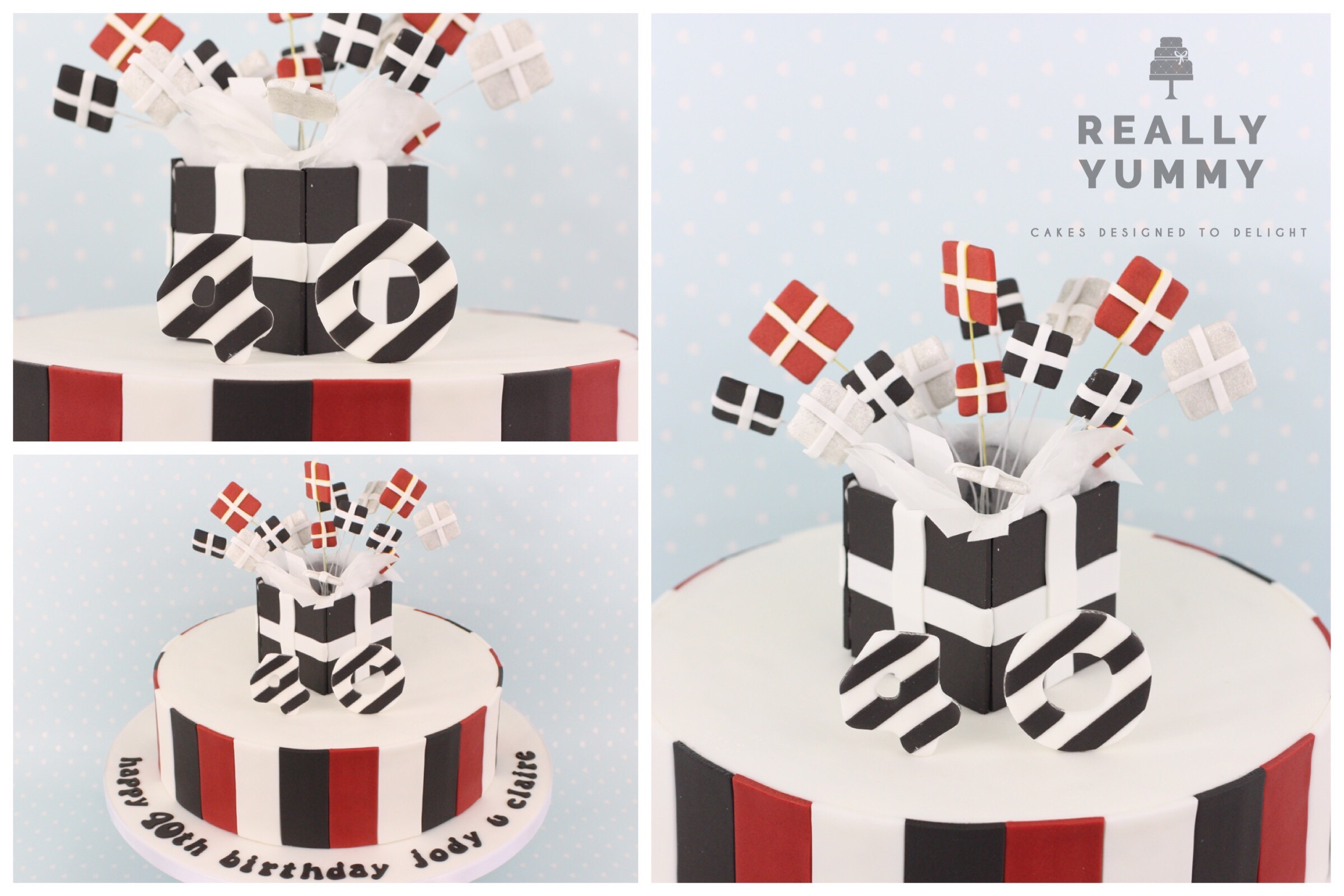 Present cake for 40th birthday