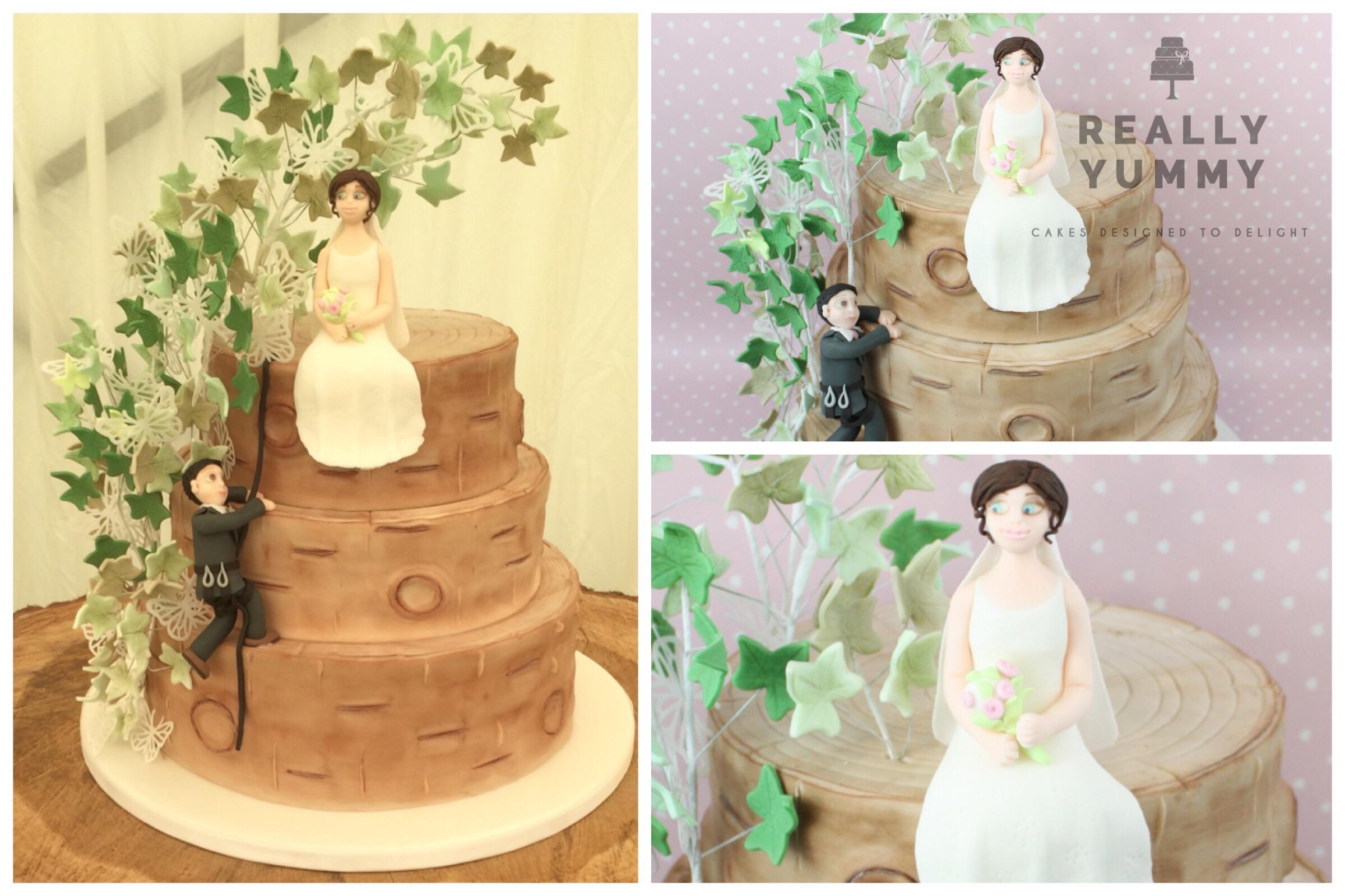 Tree surgeon's wedding cake