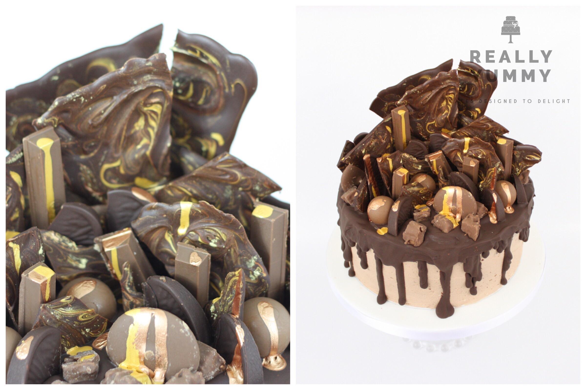 Chocolate and chocolate cake