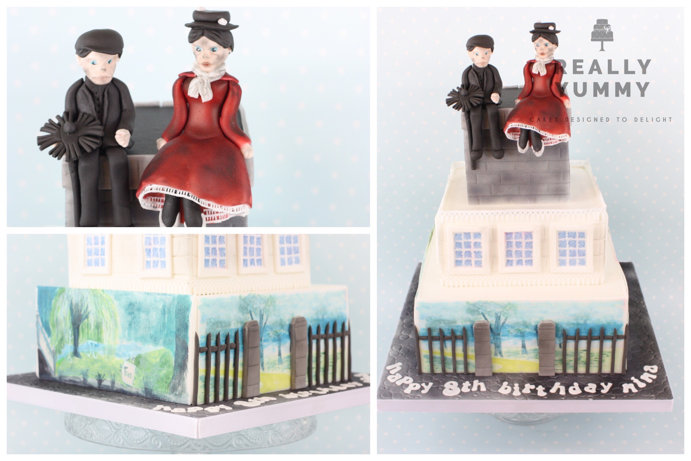 Mary Poppins cake, with Bert