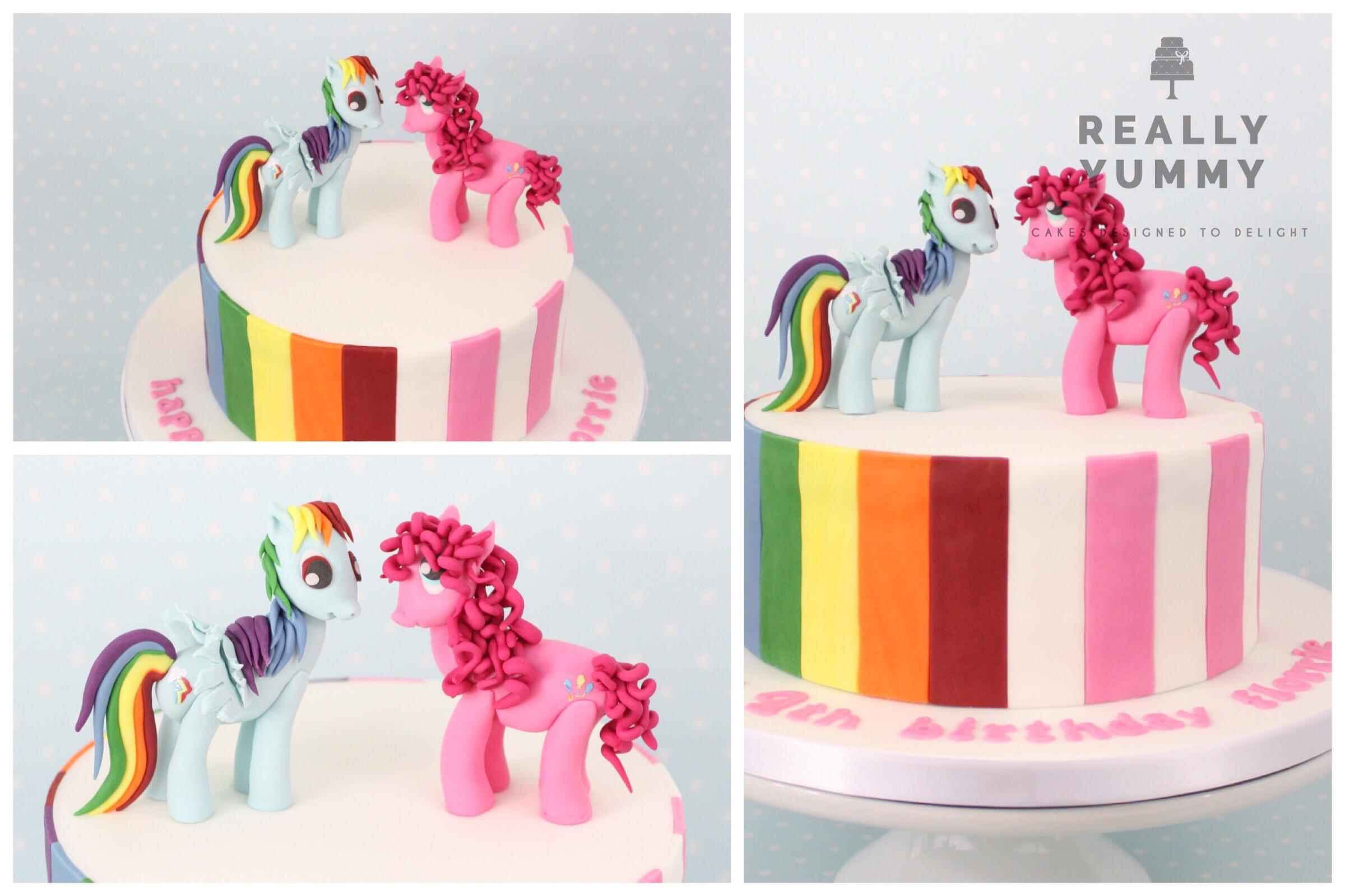 My Little Pony cake with Rainbow Dash