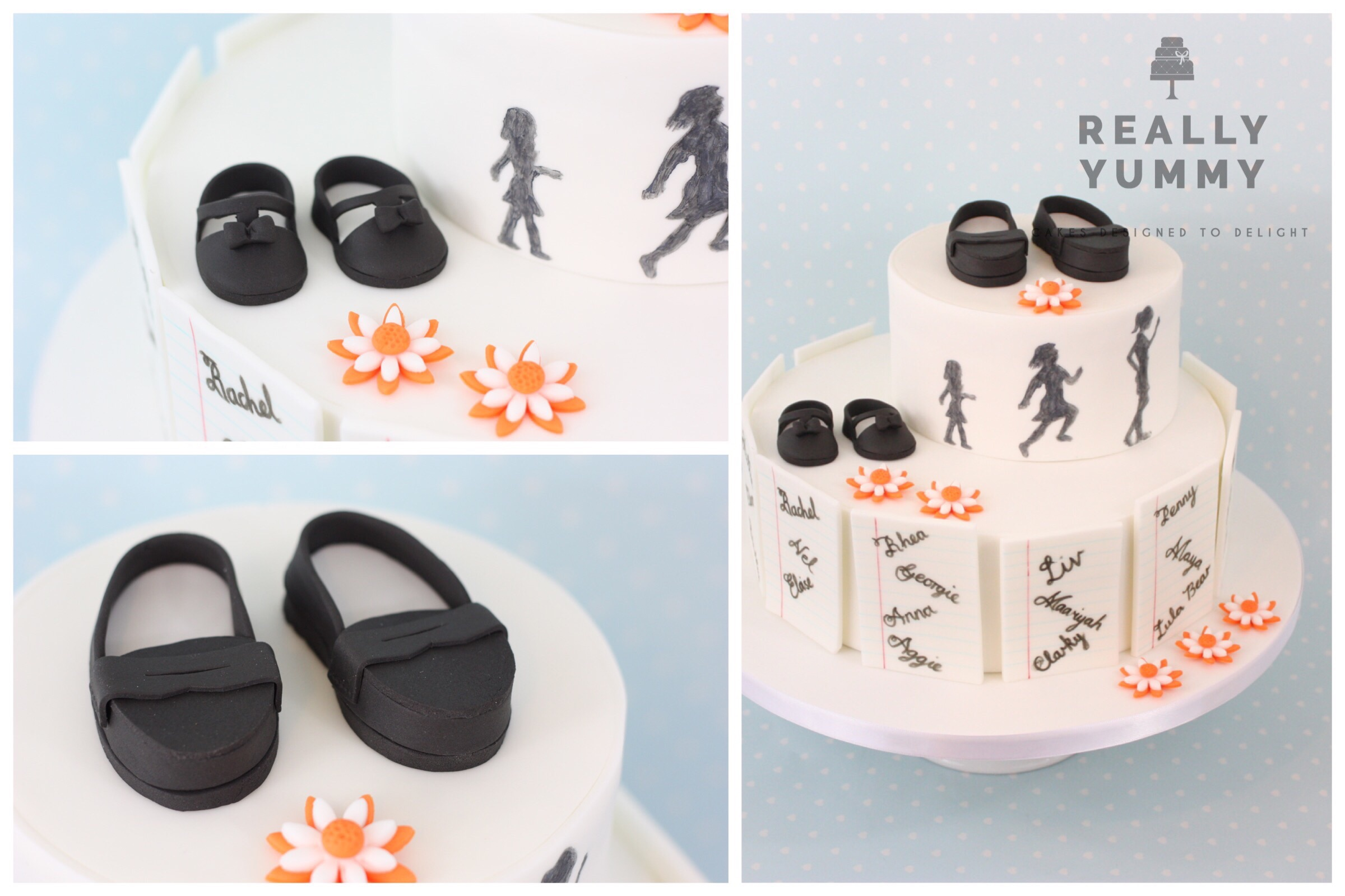 School leavers' cake with shoes