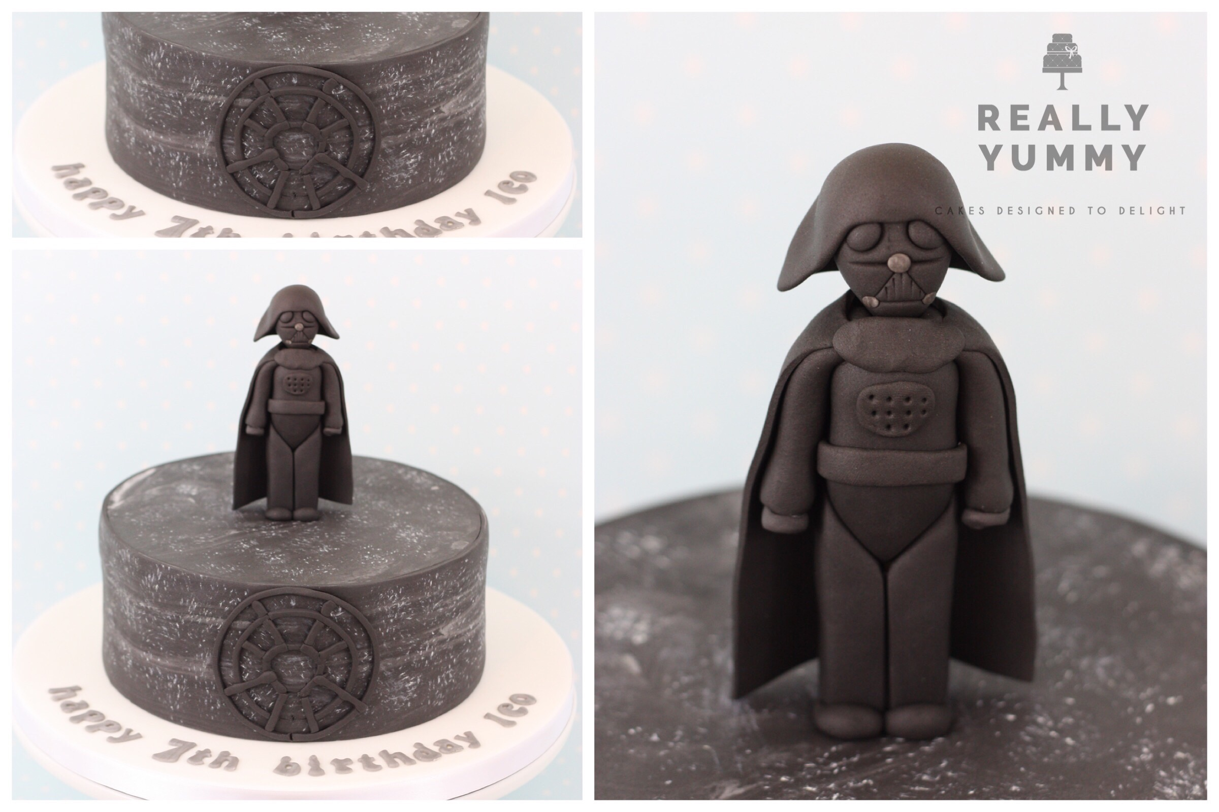 Star Wars cake, with Darth Vader