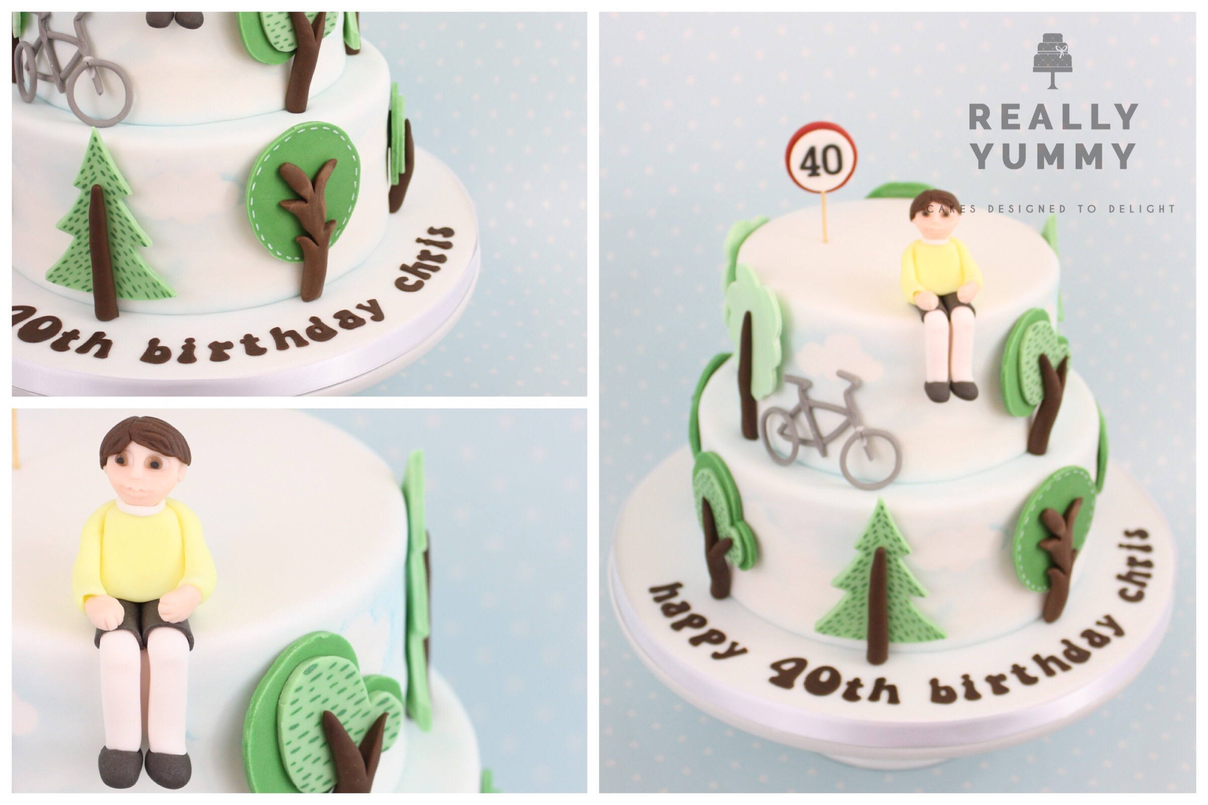 Cycling 40th birthday cake