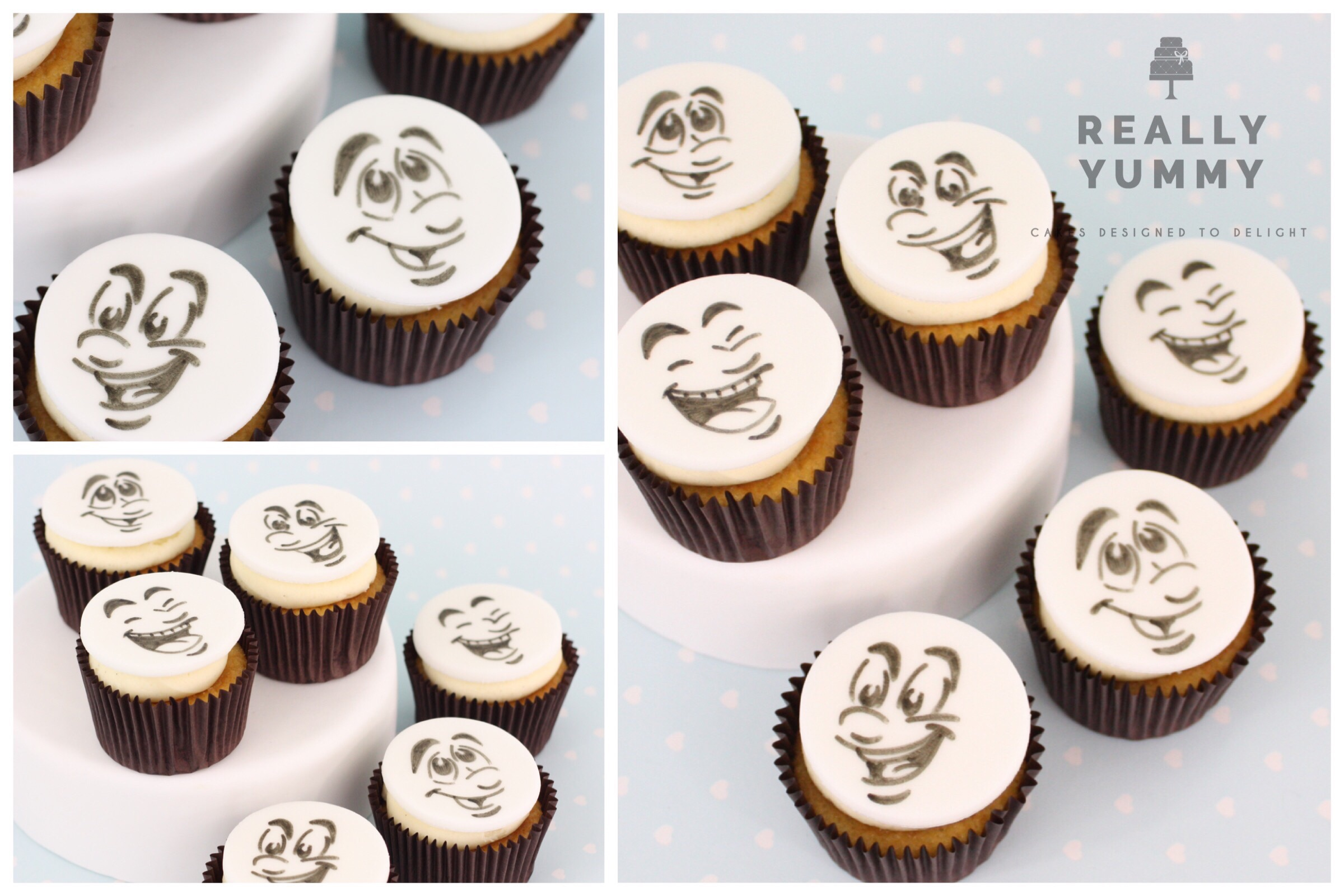 Smiling faces cupcakes