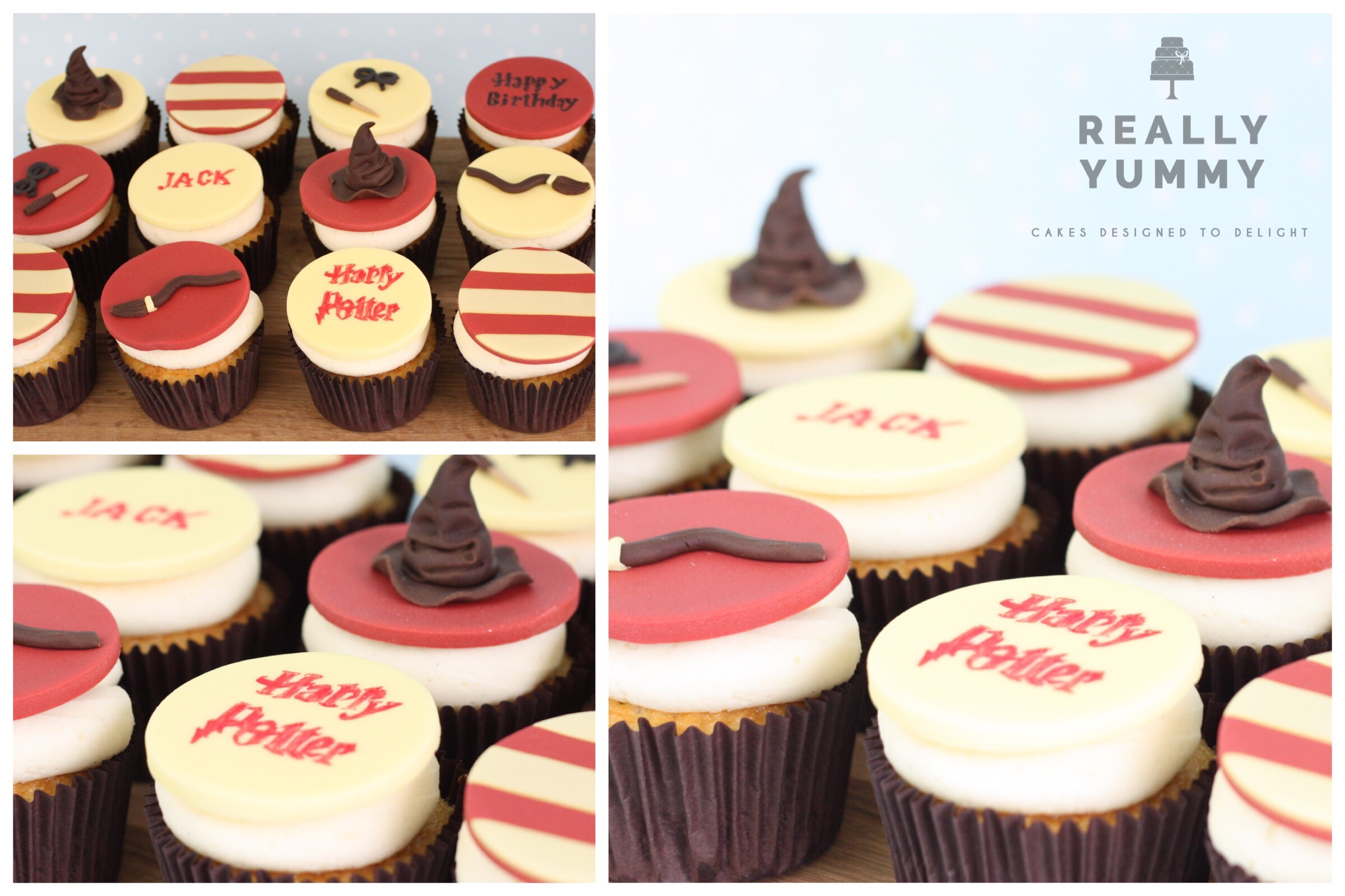 Harry Potter cupcakes with sorting hat