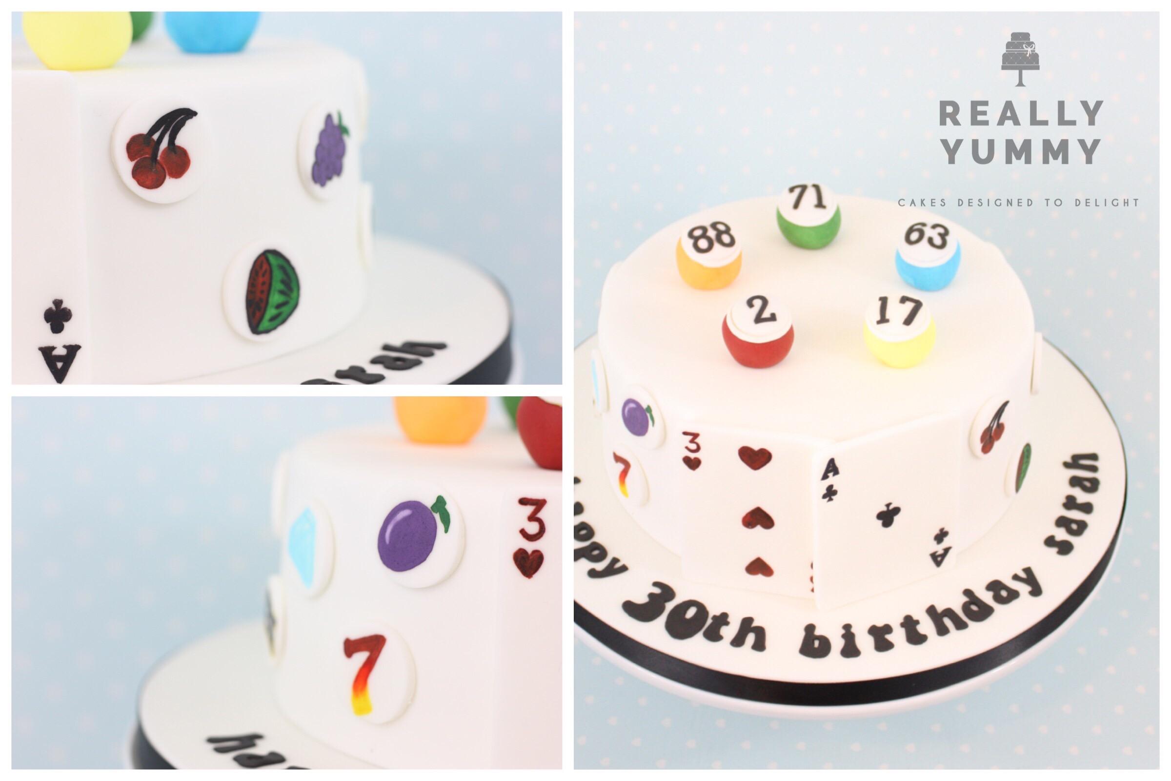 Bingo ball cake