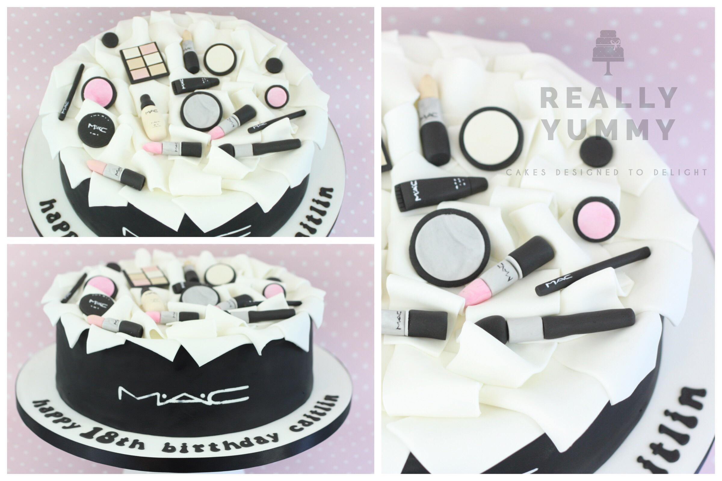 A gorgeous MAC make-up cake
