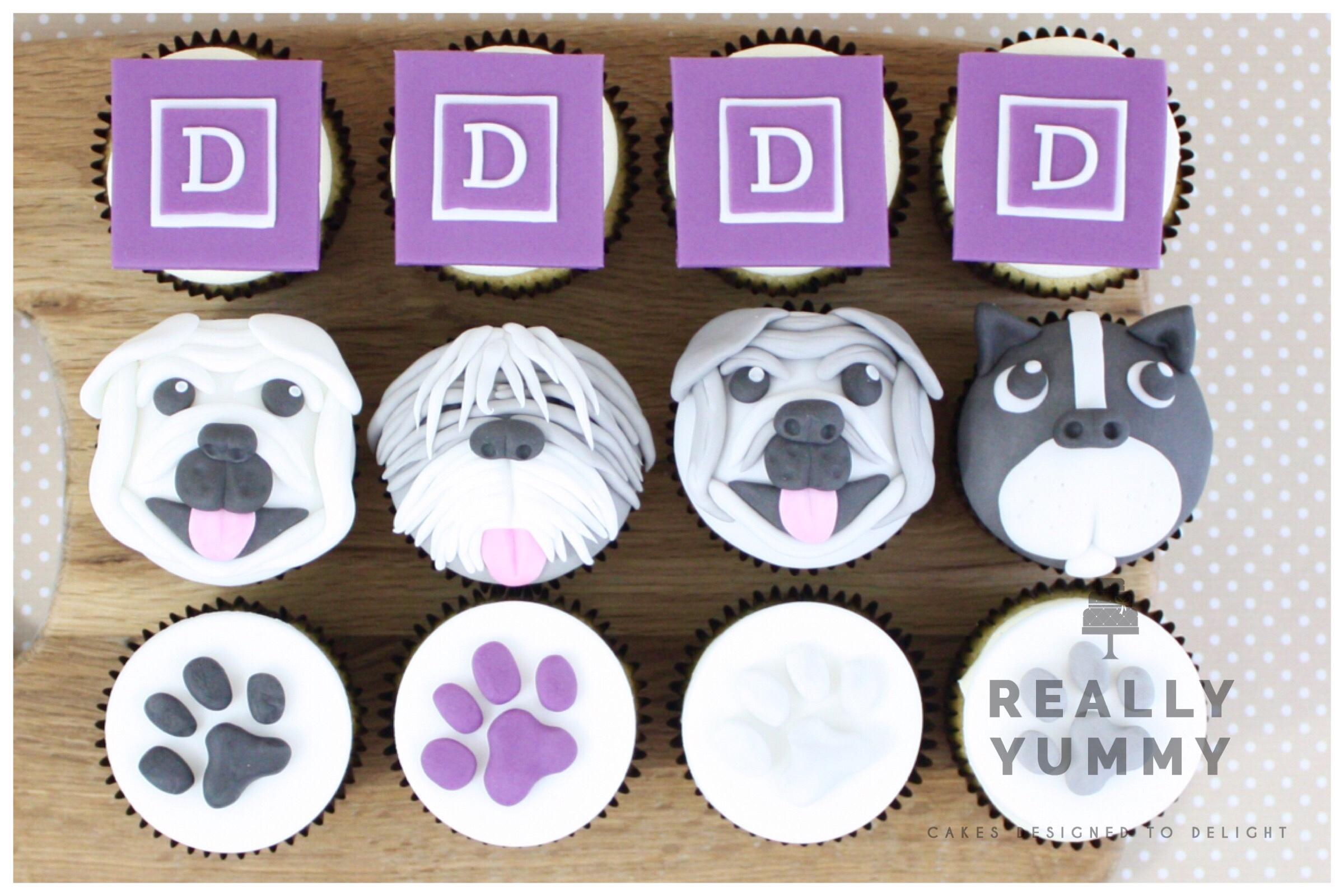 Dybles dog cupcakes
