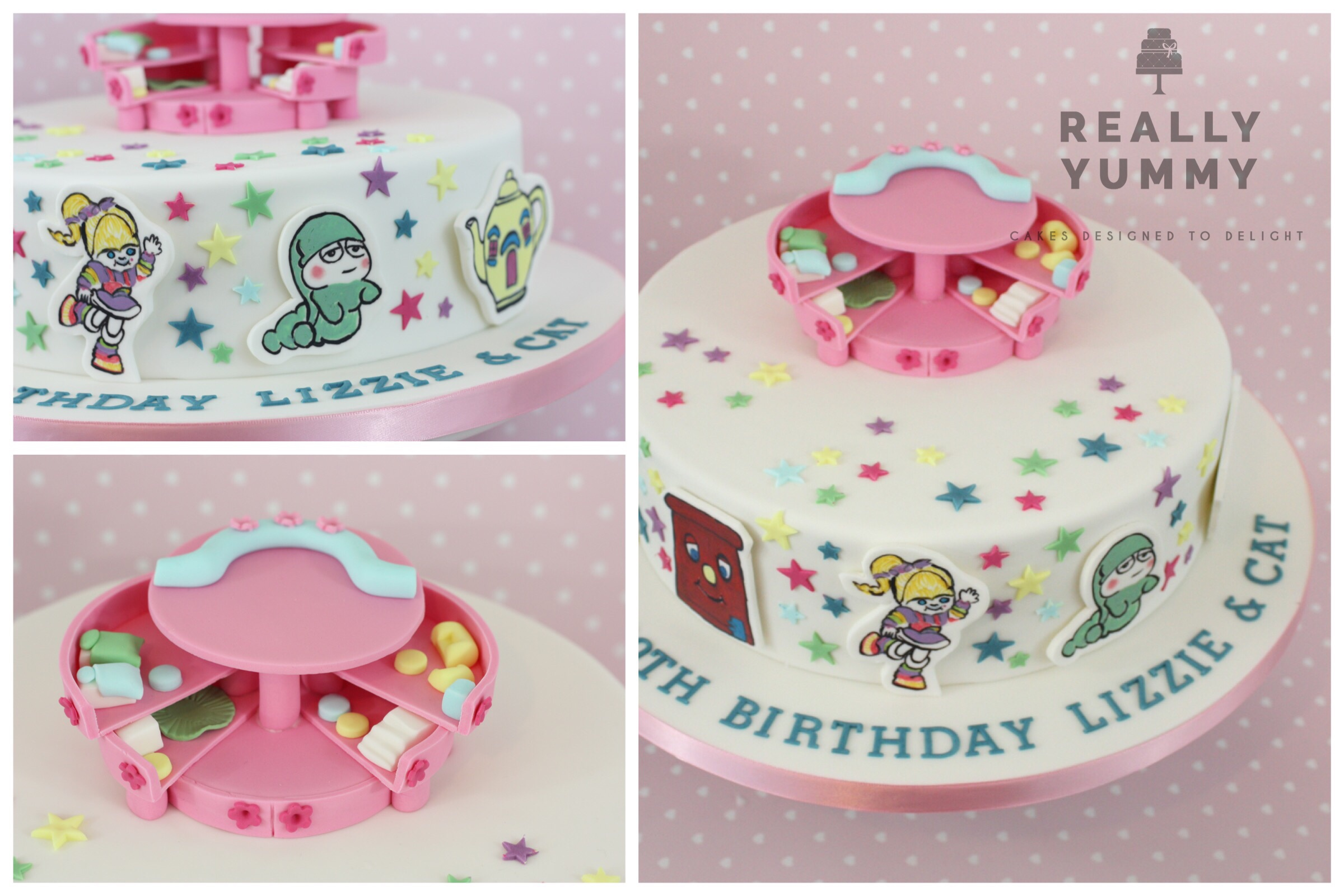 Polly pocket and 1980s toys cake