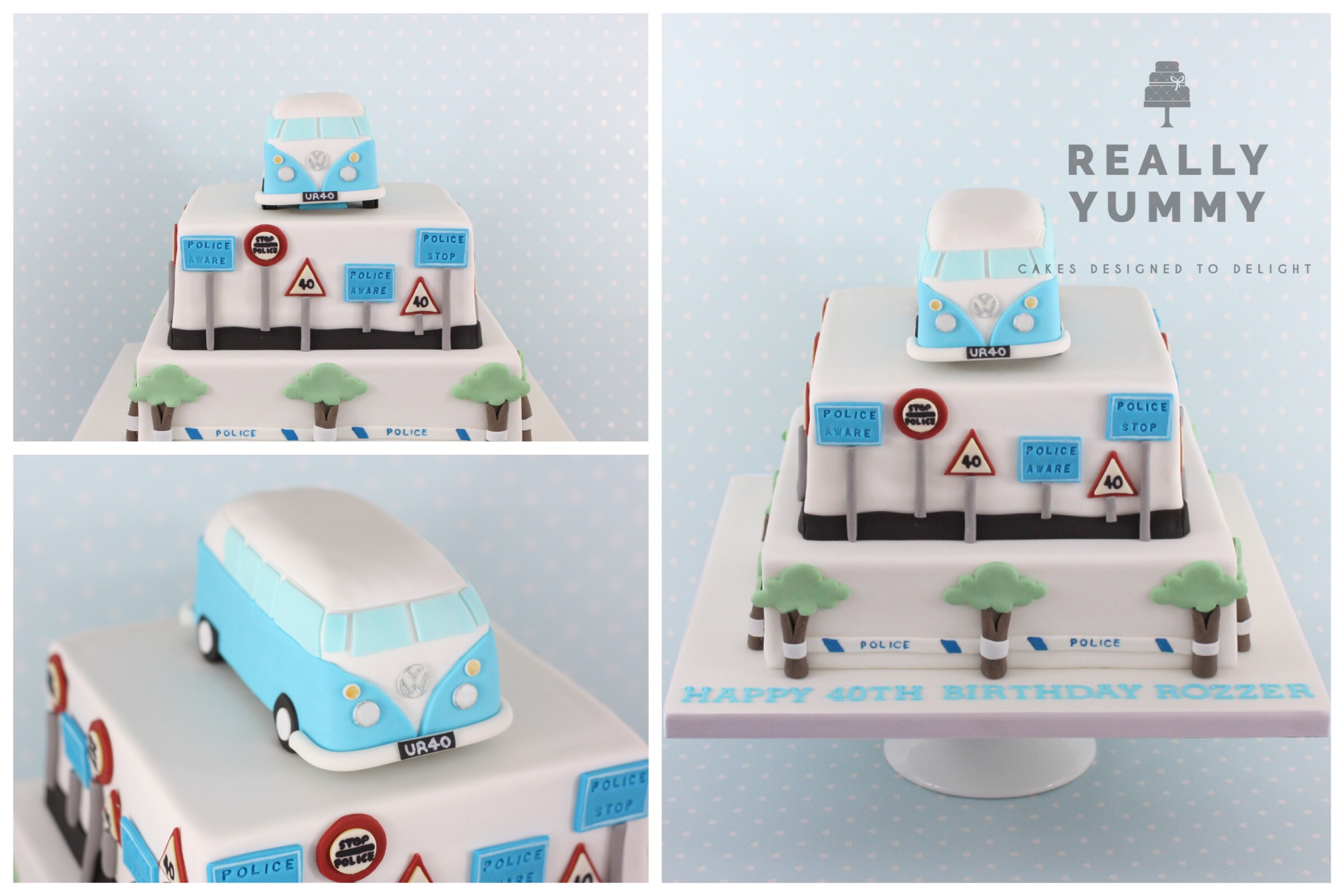 Police and camper cake