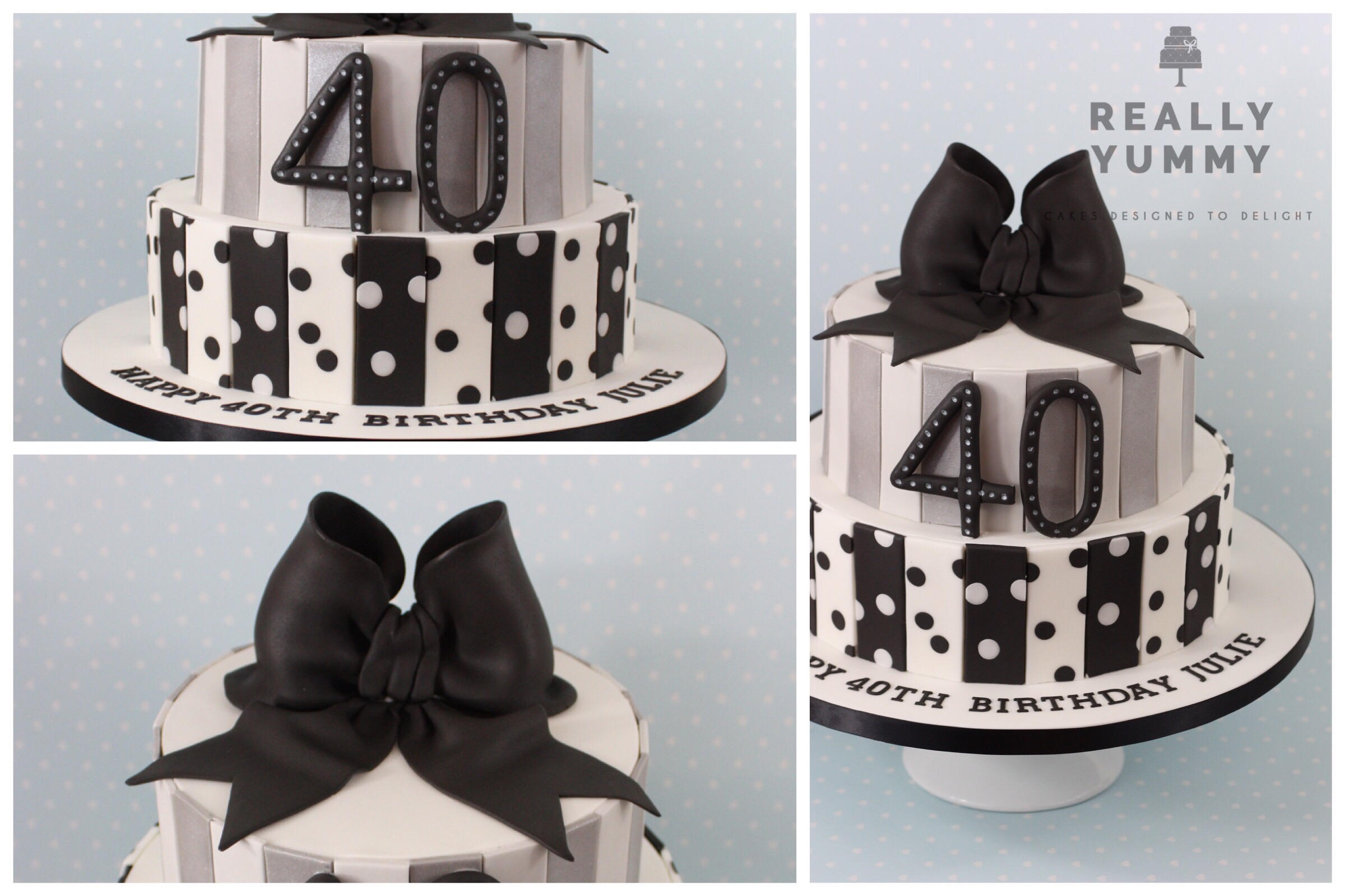 Retro 40th birthday cake
