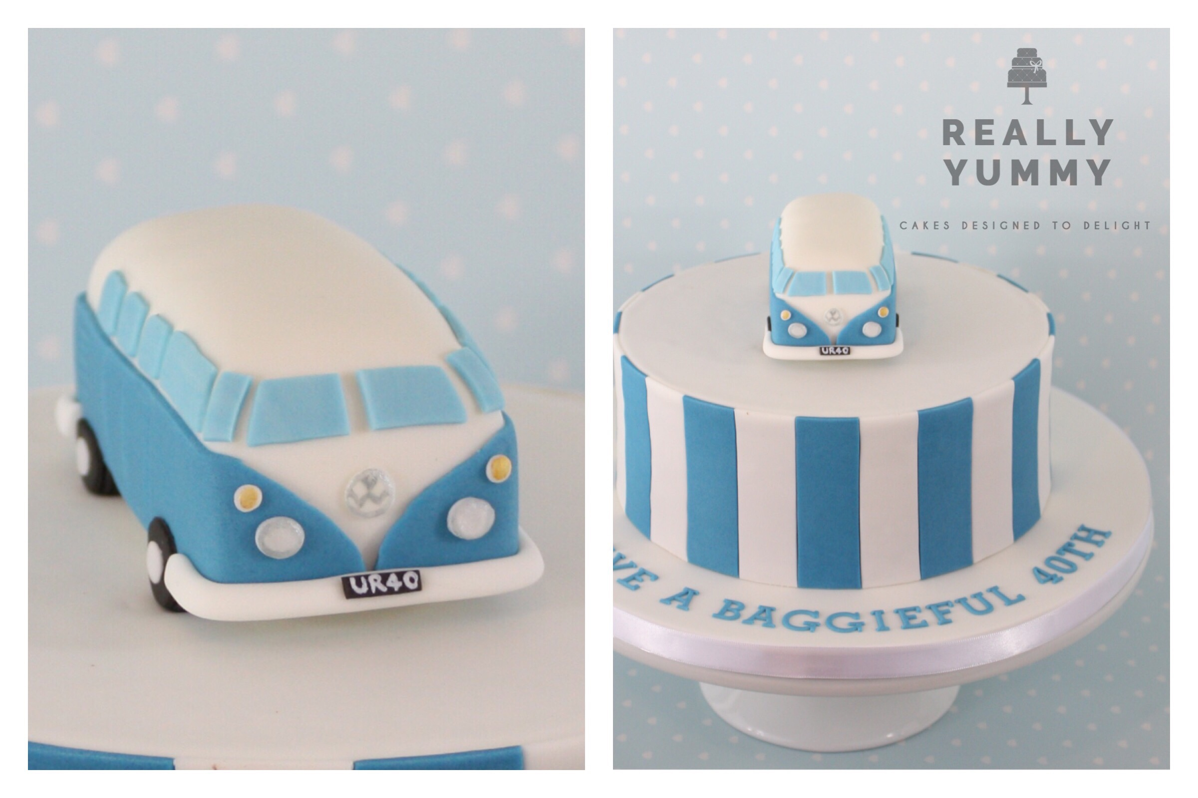 VW Campervan 40th birthday cake