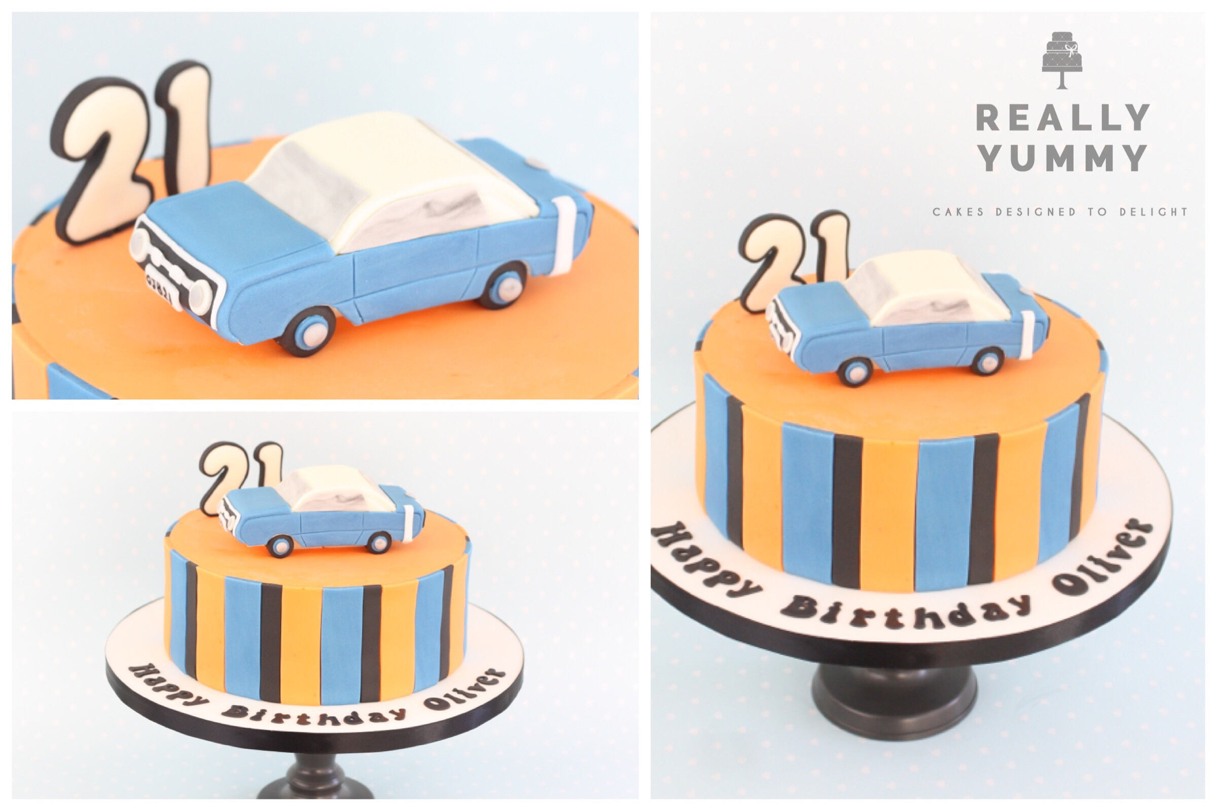 Car cake, with Dodge Dart topper