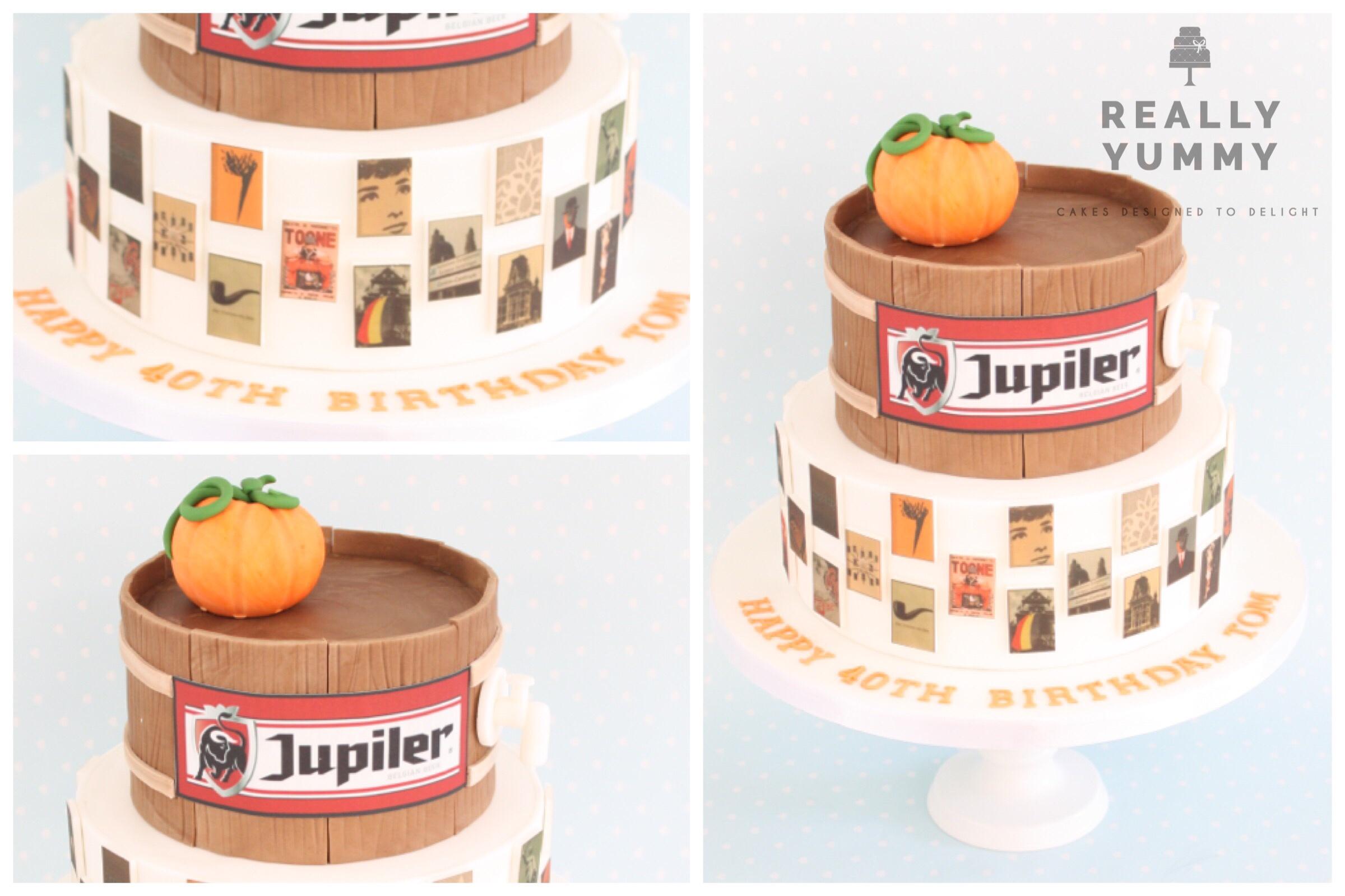 Belgian-themed cake