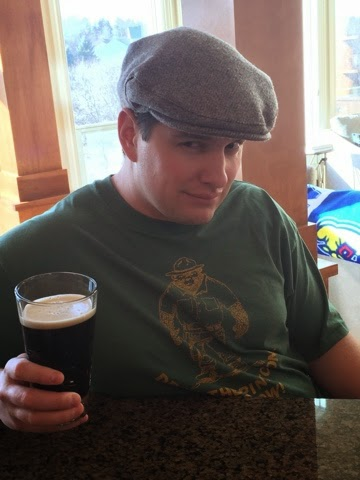 I told him to give me his best Irish face. The hat is one he purchased in Scotland, so I guess he figures that's close enough! And the t-shirt...well, just don't get me started. We've been together for 19 years and he had it long before then.