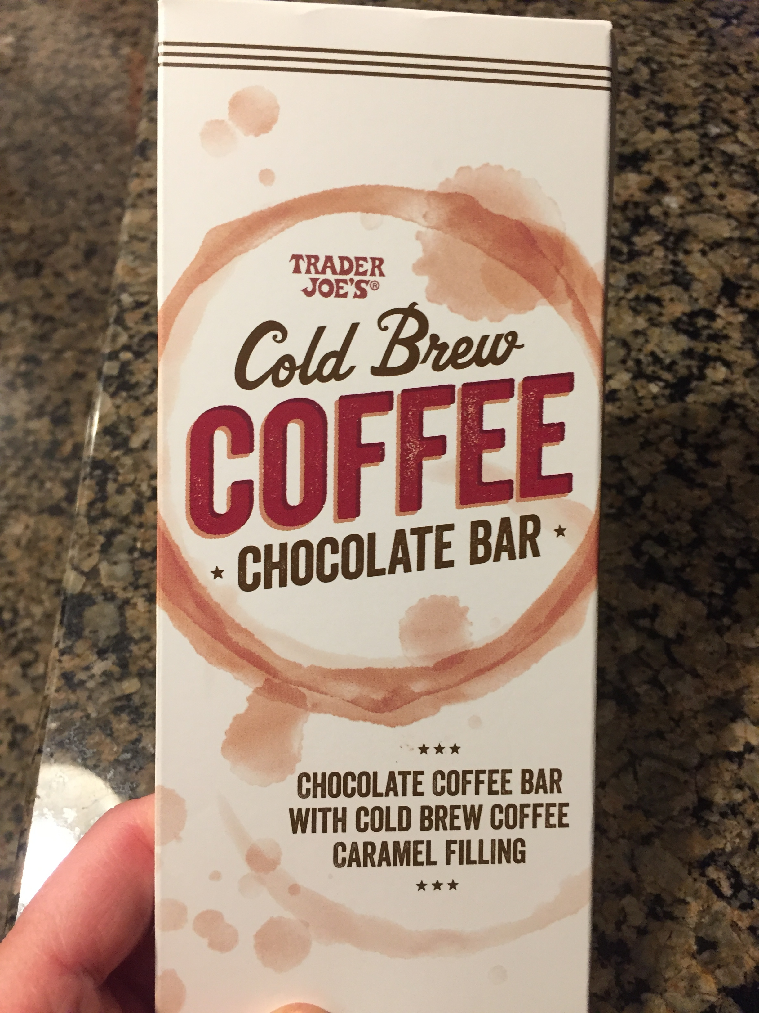 I have intense love for this chocolate bar. Dark chocolate filled with a cold-brew coffee caramel. You can eat a third of the bar for 150 calories! And it's a big bar. It's sooooo good. But it won't be good if you don't like dark chocolate or coffee (in which case we cannot be friends).