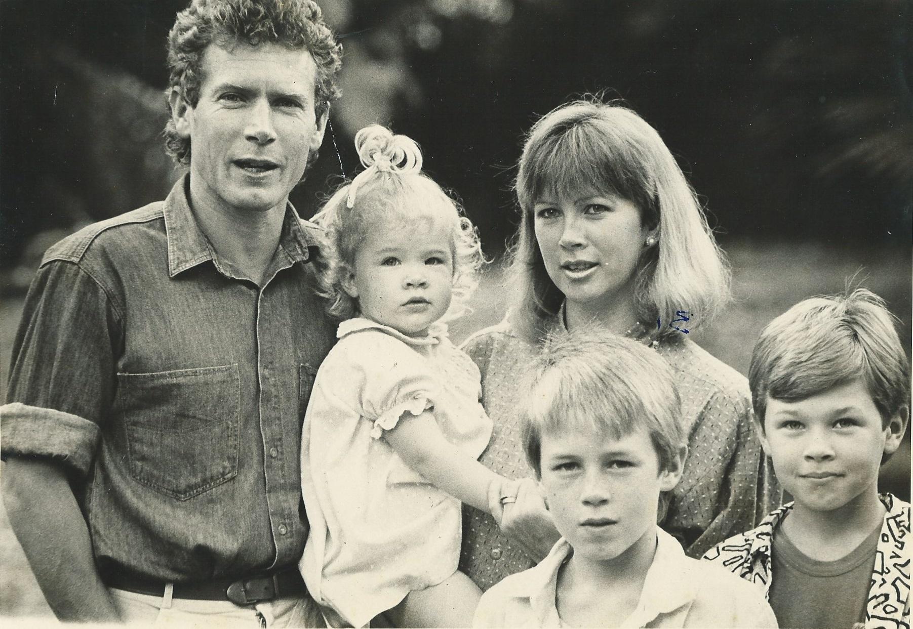 1988年,在南非的Rufus家庭。