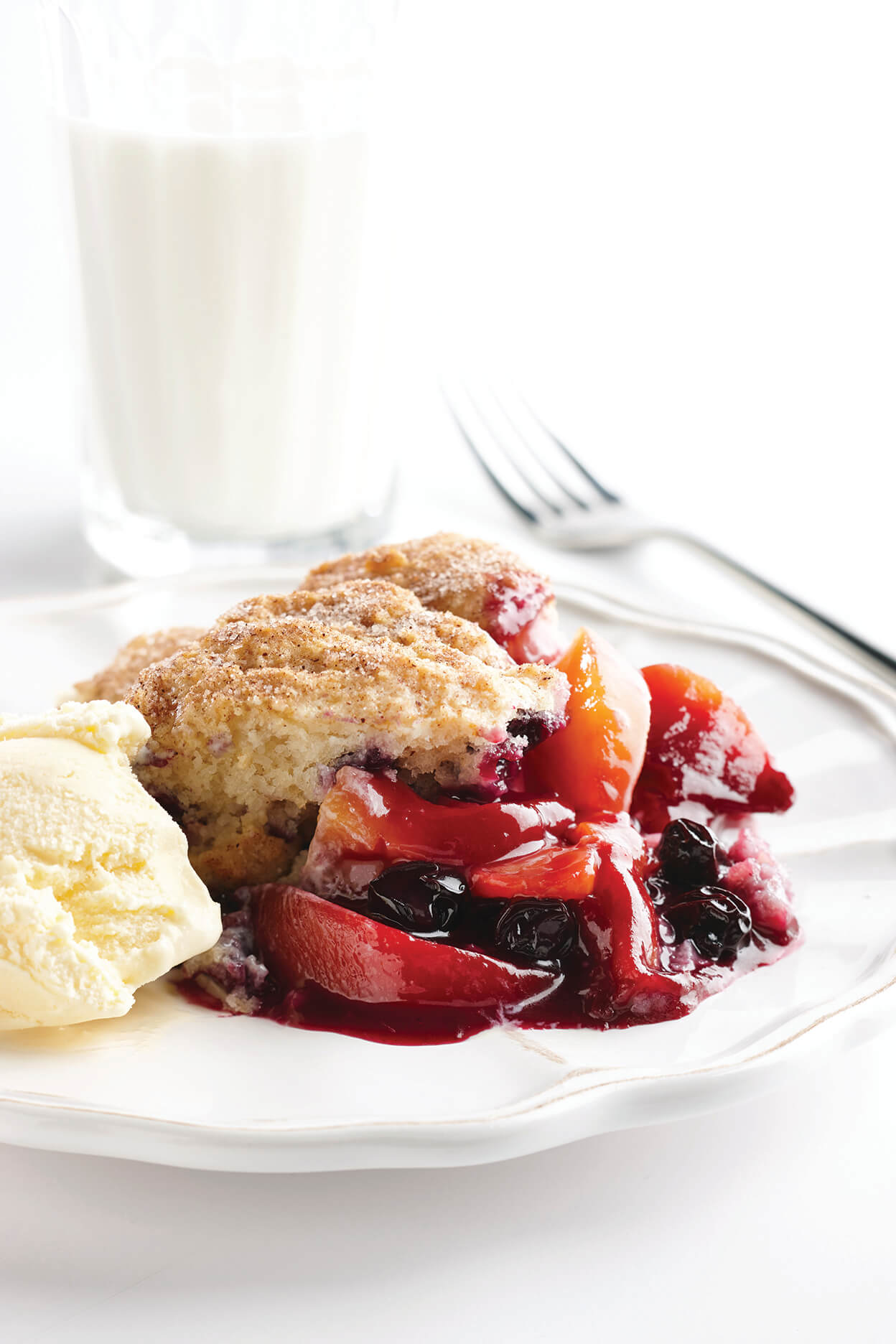 Peach-A-Berry Cobbler
