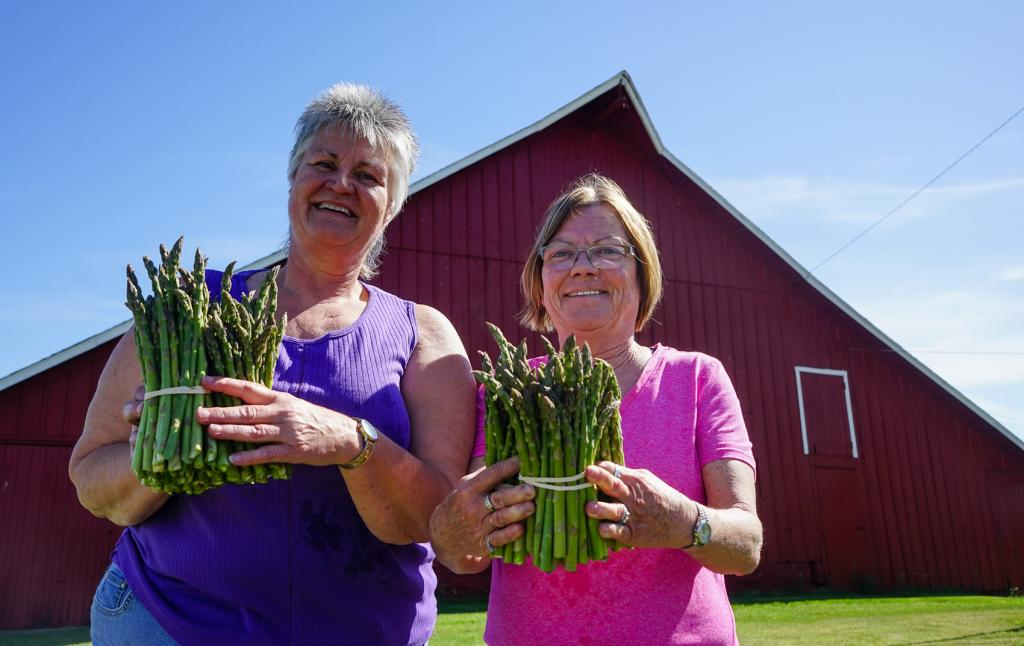 Twenty years ago Jackie Eibs and Ricki Eibs Tuttle (sisters in law) decided to plant two acres of asparagus.
