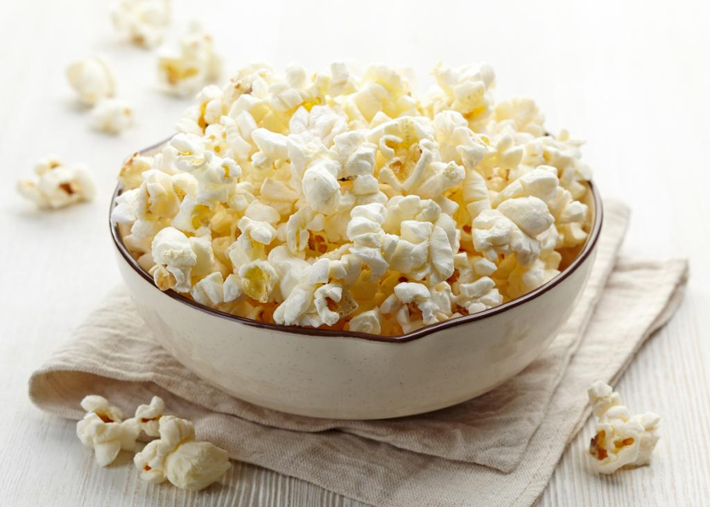 Popcorn is a smart snacking option.