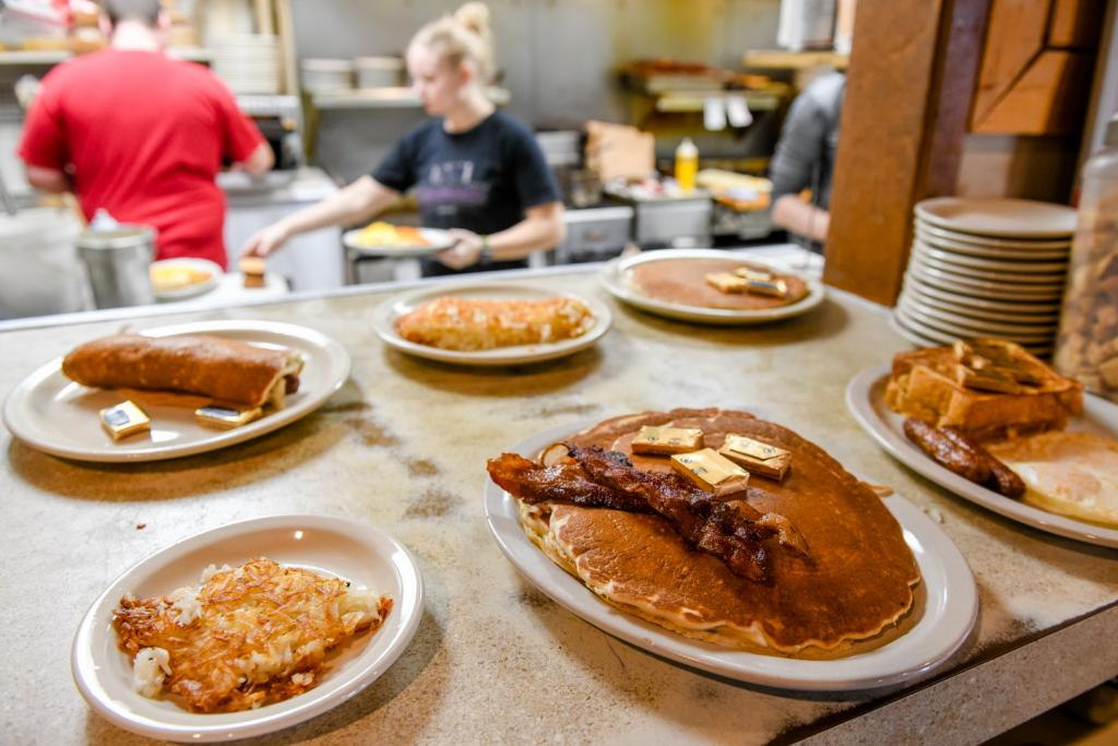 Order's up at the Waveland Cafe in Booneville.