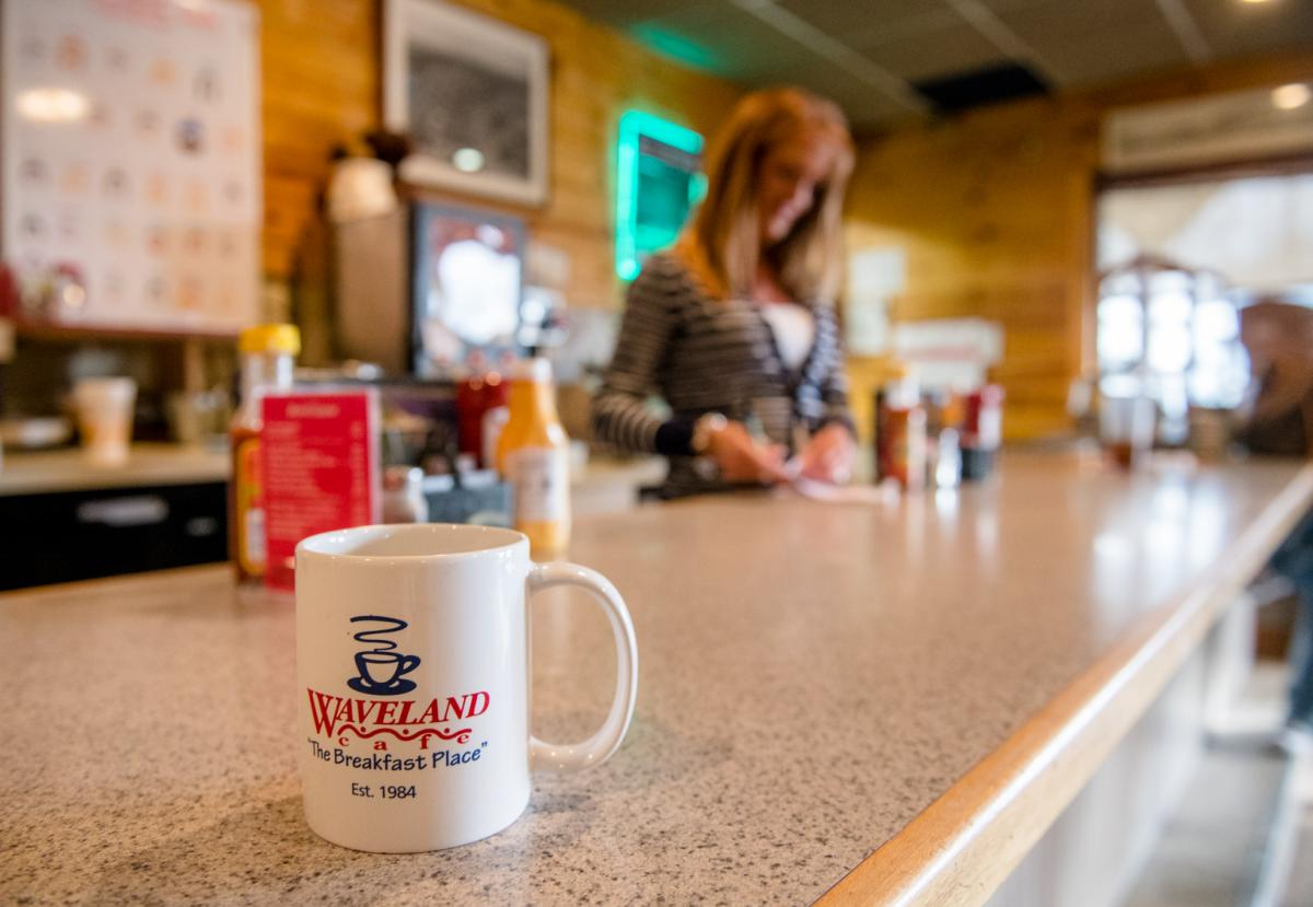 Views from the counter at Waveland Cafe in Booneville.